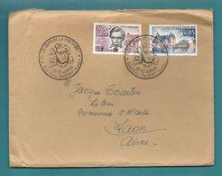 Aisne - Chateau Thierry. Fetes De Jean De La Fontaine. 1963 - Postmark Collection (Covers)