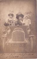 CPA-PHOTO Carte Photo Personnages Voiture Ancienne Véhicule Automobile Tacot Surréalisme Fantasmagorie - Cartoline