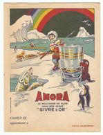 PROTEGE CAHIER MOUTARDE DE DIJON AMORA GIVRE & OR - ESQUIMAU INUIT PHOQUE PINGOUIN OURS ARC EN CIEL - EFGE VALENCIENNES - Moutardes