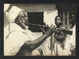 Ghana Malam Alligator Music Black & White Picture Postcard - Ghana - Gold Coast