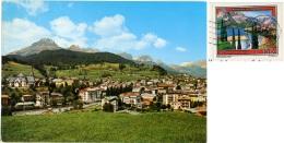 MOENA  TRENTO  Panorama Con Catinaccio E Sassolungo  Nice Stamp - Trento