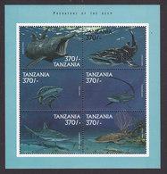 Tanzania, Scott #1885, Mint Never Hinged, Sharks, Issued 1999 - Tanzania (1964-...)
