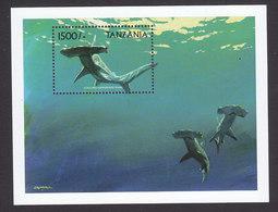 Tanzania, Scott #1886-1887, Mint Never Hinged, Sharks, Issued 1999 - Tanzania (1964-...)