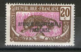 N°95*_petit Noir Sur Gomme - Congo Français (1891-1960)