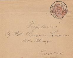 Casoria. 1925. Annullo Frazionario (40 - 19), Su Lettera Affrancata Con C. 20. Uno Dei Due Tipi Di Frazionario. - 1900-44 Victor Emmanuel III