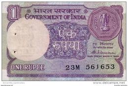 INDIA 1 RUPEE 1985 P-78Ab UNC SIGN. VENKITARAMANAN. NO PLATE LETTER [IN078Ab] - India