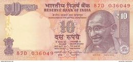 INDE 10 RUPEES 2014 P-102 NEUF SIGN. RAJAN. LETTRE DE PLAQUE A [IN286e] - India