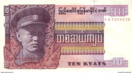 BIRMANIE 10 KYATS ND (1973) P-58 NEUF [BMM1003a] - Myanmar
