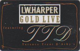 Télécarte Japon / 110-011 - ALCOOL - WHISKY - I.W. HARPER - ALCOHOL Japan Phonecard - ALKOHOL TK - 902 - Lebensmittel