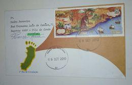 Lettre Du Bresil  Vers Portugal 2010 - Cartes-maximum