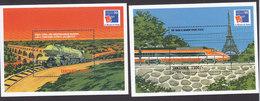 Tanzania, Scott #1909-1910, Mint Never Hinged, Trains, Issued 1999 - Tanzania (1964-...)