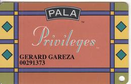 USA - Pala Casino, Member Card, Used - Casino Cards