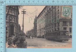 Montreal Quebec Canada - ND Phot. #132 , Rue Craig, Craig Street, Animé- Rare Tramway - Voyagée 1910 - Montreal