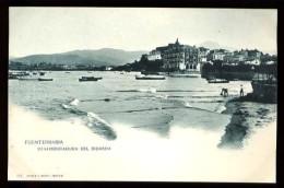 FUENTERRABIA - Desembocadura Del Bidasoa - (Beau Plan Animé) - CP Très Ancienne, Vers 1900. - Guipúzcoa (San Sebastián)