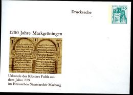 Bund PU110 B2/011 Privat-Umschlag KLOSTER FULDA ** 1979 - Christentum