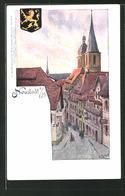 Künstler-AK Carl Biese: Neustadt A. H., Strassenpartie Mit Blick Zum Kirchturm - Other Illustrators