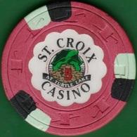 $5 Casino Chip. St Croix, Turtle Lake, WI. K06. - Casino