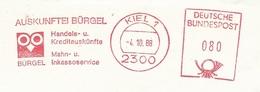 EMA METER STAMP CHOUETTE GUFO OWL EULE HIBOU  BIRD - GERMANY BURGEL Kiel 198 (COVER) - Eulenvögel