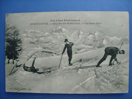 (ski) Skieurs En Montagne. Une Bonne Pelle, 1924, TBE. - Sports D'hiver