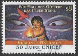 United Nations Vienna SG V220 1996 UN Children's Fund 8s Good/fine Used [36/30301/7D] - Vienna – International Centre