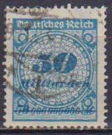 GERMANIA REICH REP.DI WEIMAR 1923  VALORI IN MILIARDI UNIF. 325 USATO VF - Germania