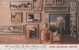 Télécarte Japon / 110-011 - ALCOOL - WHISKY - KIRIN SEAGRAM - ALCOHOL Japan Phonecard - ALKOHOL - Tarjeta Tel. - 925 - Alimentación