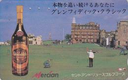 Télécarte Japon / 110-011 - ALCOOL - WHISKY - MERCIAN GLENFIDDICH & GOLF Sport - ALCOHOL Japan Phonecard - 935 - Alimentazioni