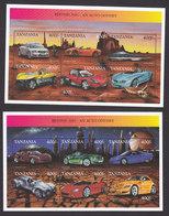Tanzania, Scott #1957-1958, Mint Never Hinged, Cars, Issued 1999 - Tanzania (1964-...)