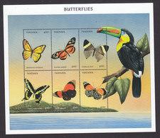 Tanzania, Scott #1966, Mint Never Hinged, Butterflies, Issued 1999 - Tanzania (1964-...)