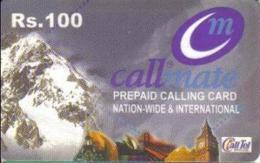 REMOTE : RCM01 Rs.100 Call Mate Mountain Big-ben CallTel Logo USED - Pakistan