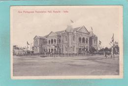 Small Postcard Of Goa Portuguese Association Hall,Karāchi, Sindh, Pakistan,ex India, Q90. - Pakistan