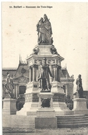 36. BELFORT . MONUMENT DES TROIS-SIEGES . TRES JOLI AFFR AU VERSO DU 6-10-1926 . 2 SCANES - Belfort - City