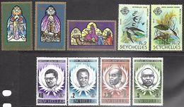 Seychelles Islands  1979   9 Diff   MNH**  2016 Scott Value $3.90 - Seychellen (1976-...)