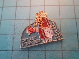 Pin610e Pin's Pins : BEAU ET RARE :  CIRCUIT PRAIRIES CAEN CALVADOS RALLYE VIEILLES VOITURES  , Marquage Au Dos : - ---- - Cities