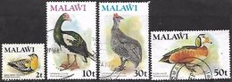 Malawi 1975   4 Diff Used Birds To The 50t   2016 Scott Value  $4.45 - Malawi (1964-...)