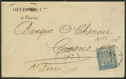 Perforé-France-N° 90 Sur Lettre-Ancoper O&C 19-Indice 7 - France