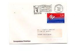 Flamme Bordeax Midi (33)  Philatelie Nouvelle Arrive Mecaphil 89  Y-T 2560 (Bicentenaire Révolution Française - Folon) - Postmark Collection (Covers)