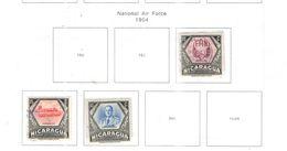 Nicaragua PA 1954 Nat.Air Force Scott.C348+349+350+ Mista  See Scans On Scott.Album - Nicaragua