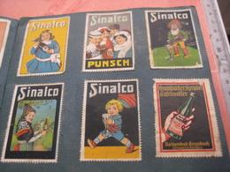 More Than 100  PUB Advertising Poster Stamps Sluitzege,small Album, All Scanned, Cinderellas C1910à1920 Reklamemarken - Advertising