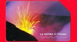 ITALIA - Scheda Telefonica - Telecom - Natura - La Natura Ci Chiama - L'Etna - Golden 1600 - C&C F3681 - 5.00 - 30.12.04 - Italia