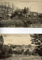 77 MONTIGNY-SUR-LOING - LOT 2 Cartes : Les Bords Du Loing Et Vue Sur Le Haut Montigny - Autres Communes