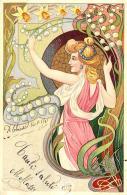 [DC11554] CPA - LIBERTY - DONNA - Viaggiata 1902 - Old Postcard - Illustratori & Fotografie