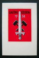 """Seidenkarte """"Gautag Der NSDAP In Essen 1938"""", Topzustand + Farbfrisch, Ungebraucht - Deutschland"""
