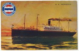 "S.S. "" Mongolia "" Paquebot Ship Pacific Mail Steamship Co. - Mongolie"