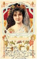 [DC11556] CPA - DONNA LIBERTY - Viaggiata 1902 - Old Postcard - Illustratori & Fotografie