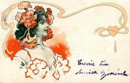[DC11557] CPA - DONNA LIBERTY IN RILIEVO - PERFETTA - Viaggiata 1902 - Old Postcard - Illustratori & Fotografie