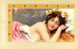 [DC11559] CPA - ART NOUVEAU - DOUX REPOS - DONNA ADDORMENTATA - PERFETTA - Non Viaggiata - Old Postcard - Illustratori & Fotografie