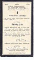 Schwalbach - Saar - Sterbebild  Rudolf Neu  -**AK-01-457** - Unclassified