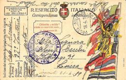 [DC11574] FRANCHIGIA MILITARE R. ESERCITO ITALIANO - SUL RETRO RITRATTO- Viaggiata 1919 - Old Postcard - Franchigia