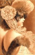 [DC11581] CPA - DONNA CON CAPPELLO - PERFETTA - Viaggiata 1901 - Old Postcard - Illustratori & Fotografie